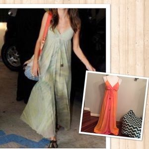 •nwt• Gypsy 05 paloma orange & pink maxi dress